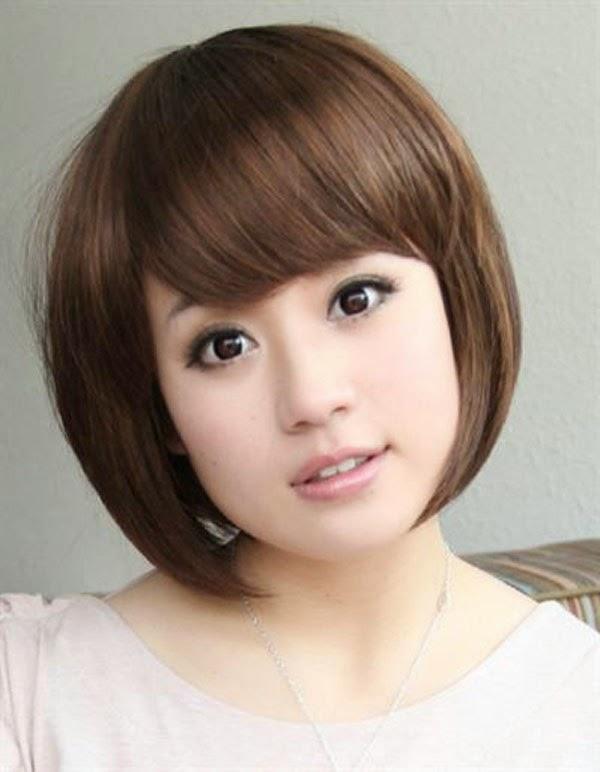 gaya rambut shaggy pendek untuk wajah segitiga