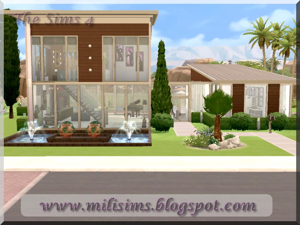 casa moderna the sims 4