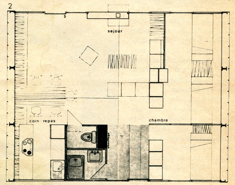 plan de maison usiné