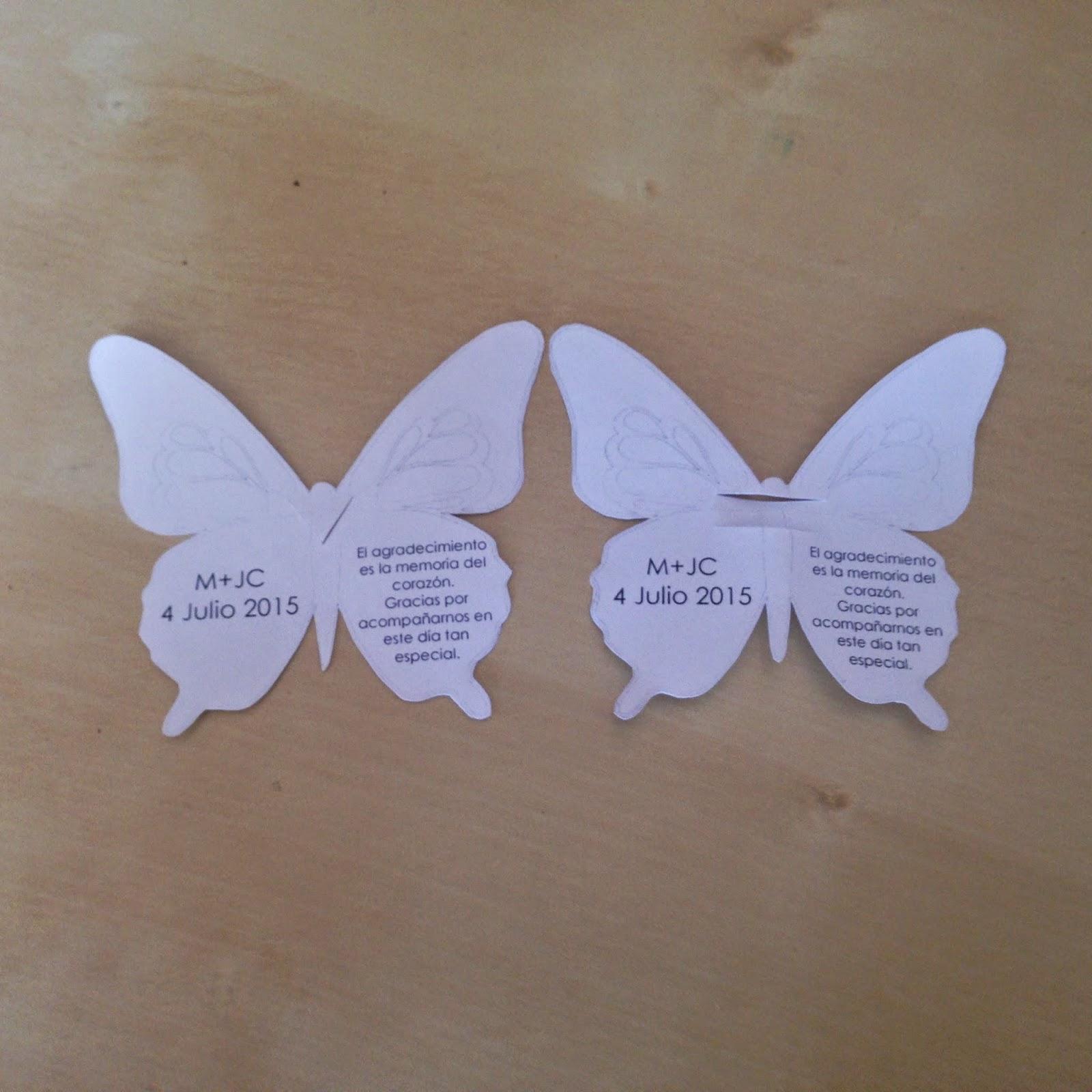 Blog de bodas - Yo dire que si: Mariposas de agradecimiento DIY ...
