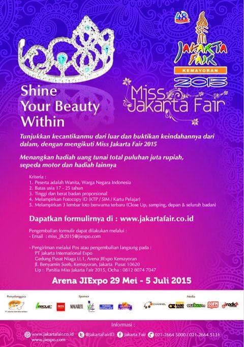 Jadwal Audisi Pemilihan Miss Jakarta Fair 2015