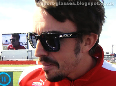 Evil Fernando Alonso with goatee beard - Still Liking Oakley Garage Rock Sunglasses at Silverstone 2013