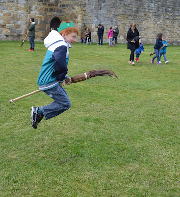 Flying a broomstick at Alnwick Castle