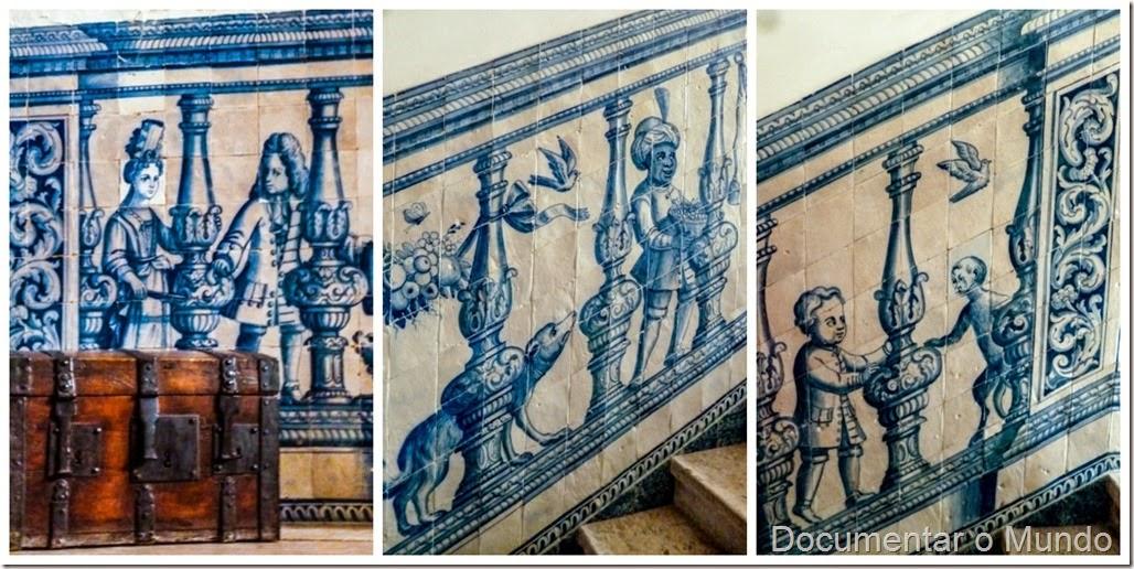 Escadaria; Palácio dos Marqueses de Minas; Azulejos Portugueses