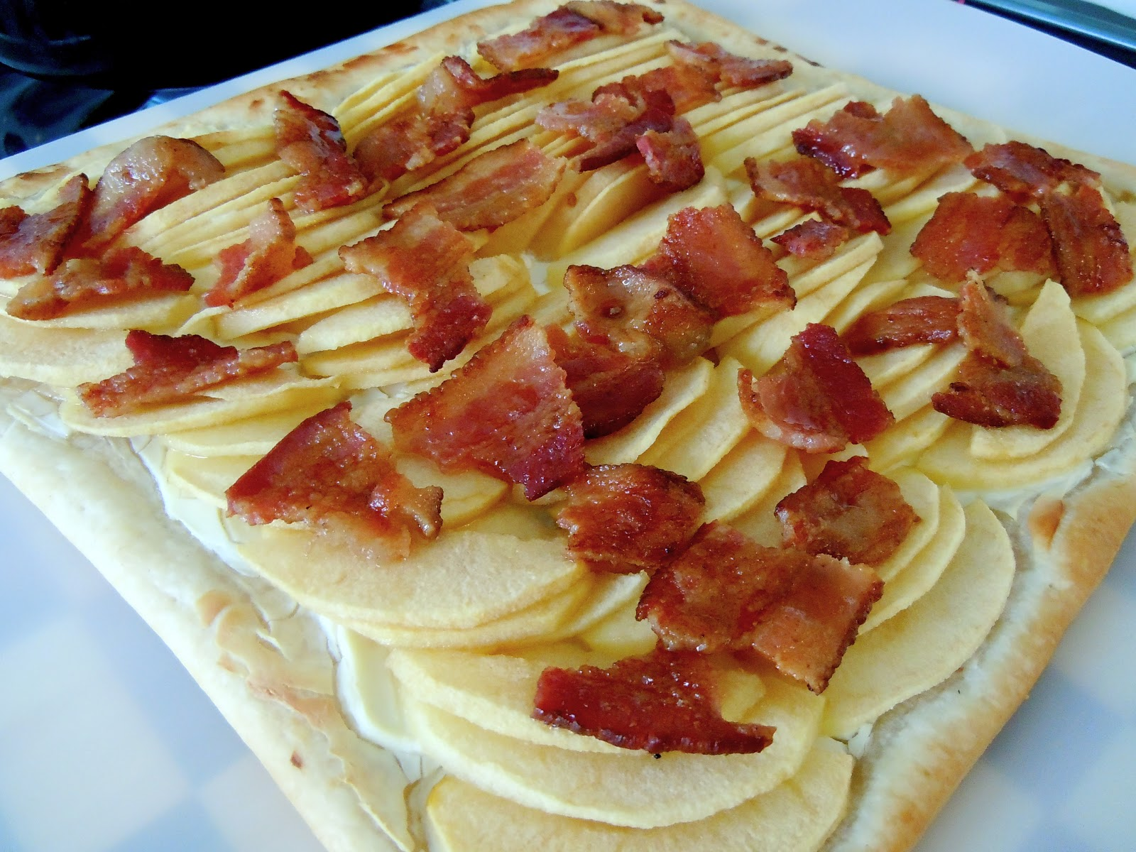 ... breakfast bacon and apple tart and it did the trick the flakey crust