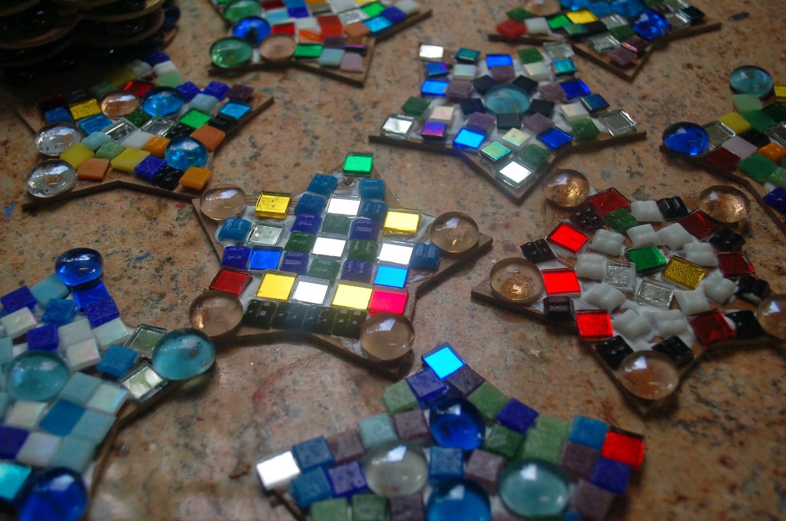 sunnyside art house mini mosaic stars and flowers. Black Bedroom Furniture Sets. Home Design Ideas
