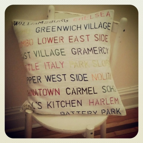 NYC Personalised Pillow Neighbourhoods