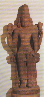 Brahma, the All-god or universal spirit of the Brahmanic age, from whom the Brahmin priestly caste derived their caste superiority. Chola sculpture from South India. Early eleventh century. British Museum, London.
