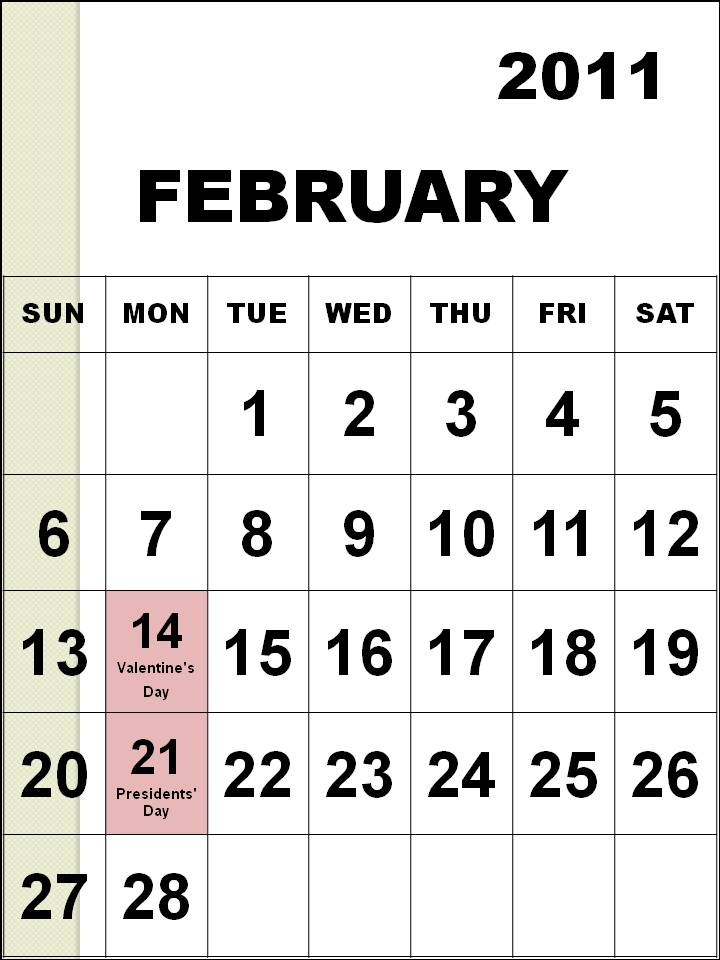 csconstantine 2011. 2011 calendar with holidays