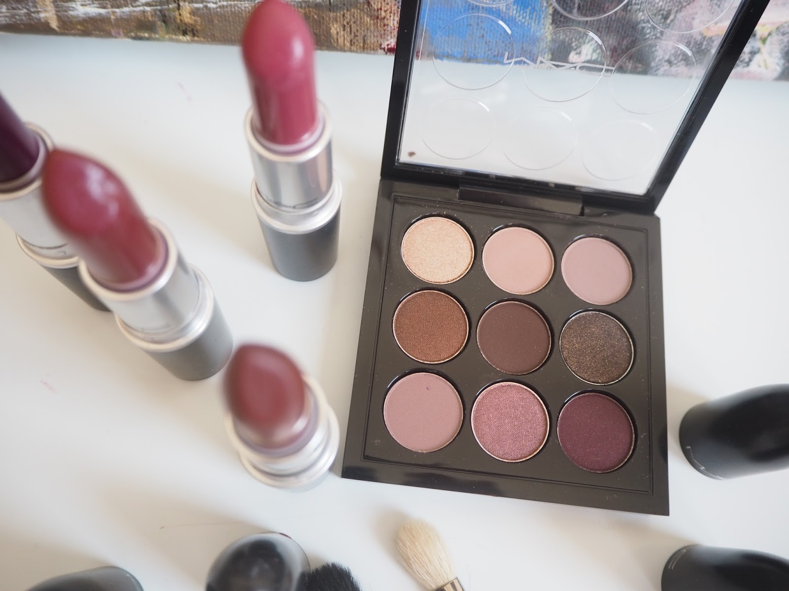 MAC Burgundy x 9 palette review