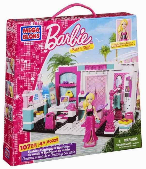 JUGUETES - MEGA BLOKS Barbie  80225 Boutique de Moda  Producto Oficial | Piezas: 107 | Edad: +4 años