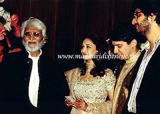 Madhuri Dixit with Husband and M>F Hussain Wedding Photos