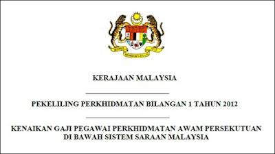 Pekeliling Kenaikan Gaji Kakitangan Awam Sistem Saraan Malaysia