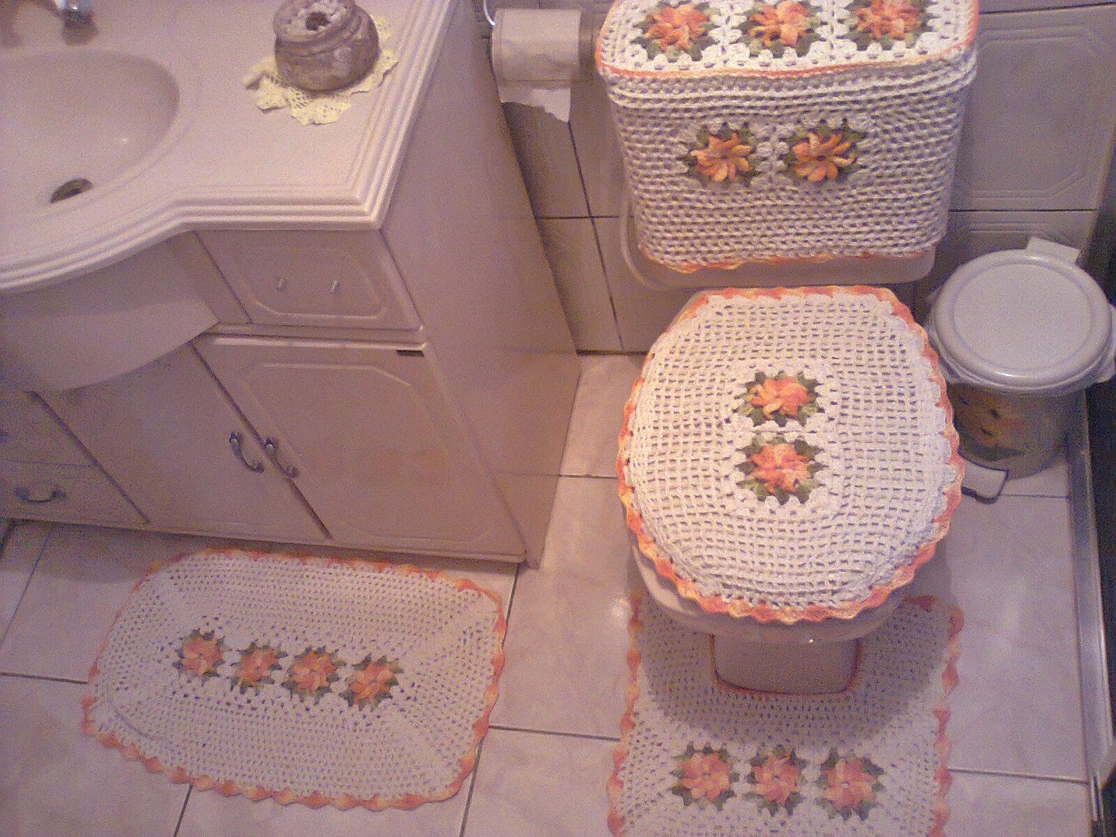 Tapete Da Pia Em Croche Jogo De Banheiro Barbante Tattoo Design Bild #91543A 1600x1200 Banheiro De Luxo Container