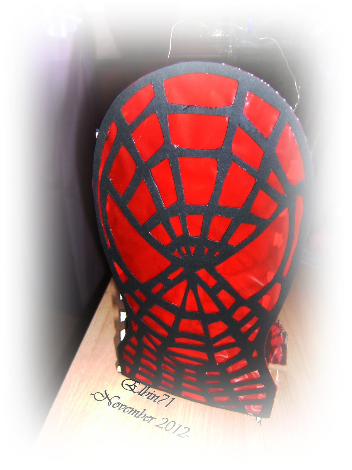 willkommen auf dem bastelblog von elbin71 spiderman laterne. Black Bedroom Furniture Sets. Home Design Ideas