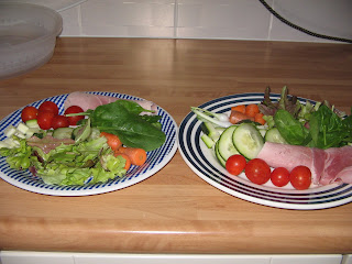 a plate of salad just harvested from the allotment