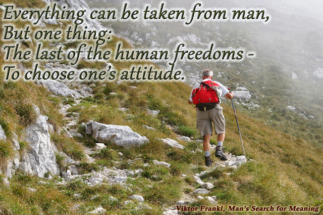 Everything can be taken from man but one thing: The last of the human freedoms - to choose one's attitude.
