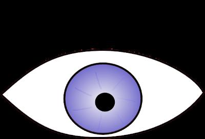 Desenho de olho para colorir