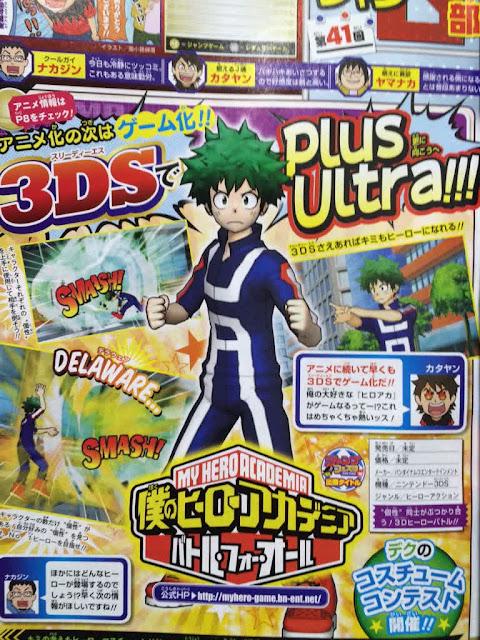Game Adaptasi Anime 'Boku no Hero Academia' Akan Dibuat Di Bandai Namco