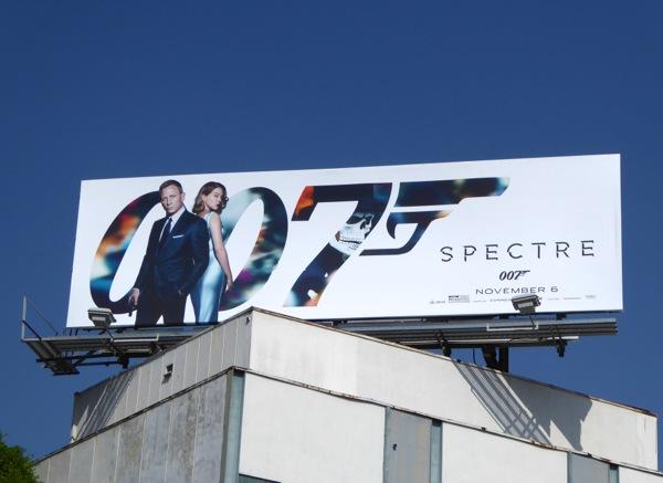 007 Spectre movie billboard