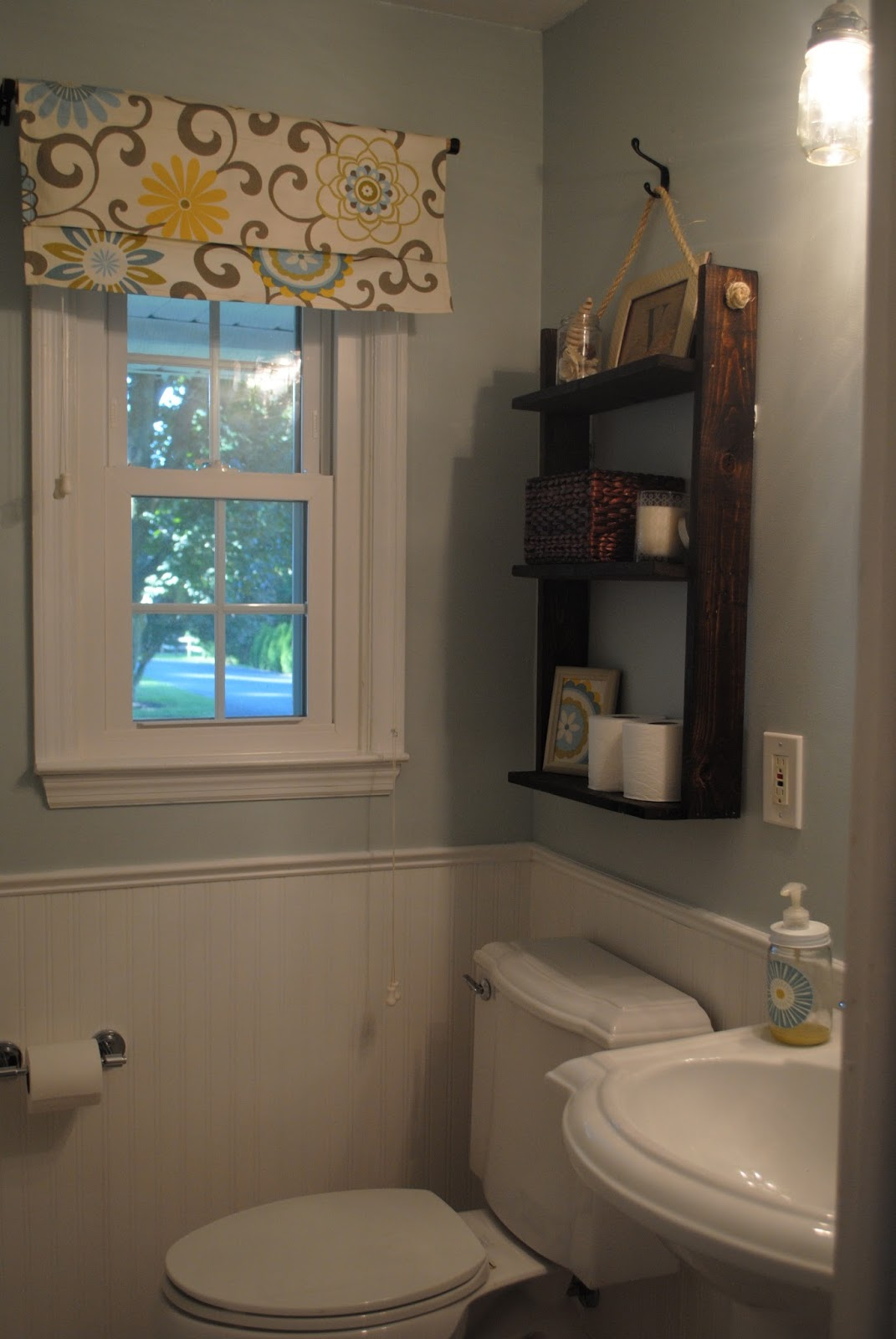 Two it yourself reveal 100 small bathroom makeover Over the toilet design ideas