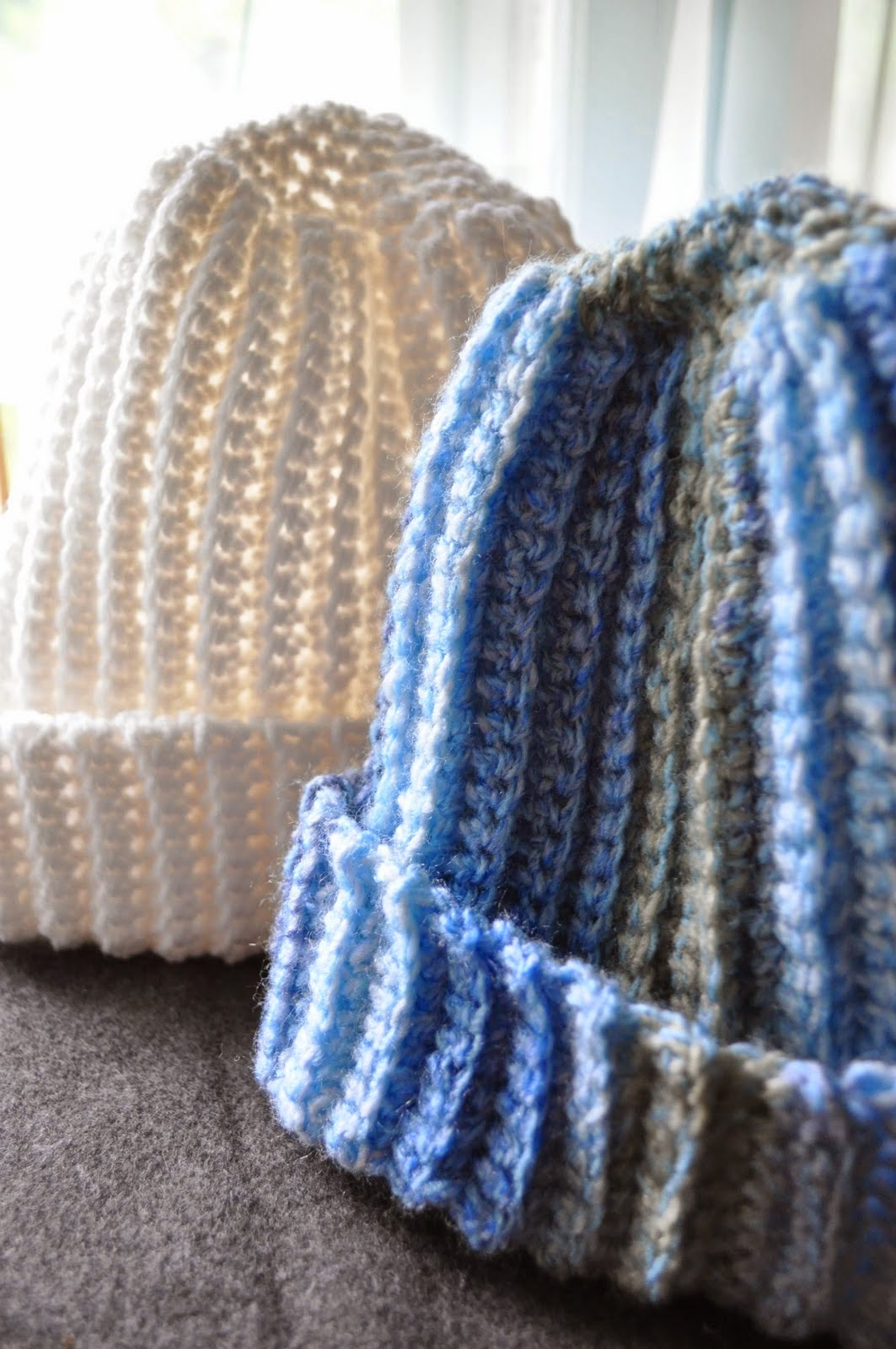 Free Knitting Pattern For Mens Ribbed Hat : SHE MAKES HATS: Crochet Hats For Men