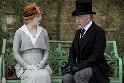 Hattie Morahan and Ian McKellen in Mr. Holmes