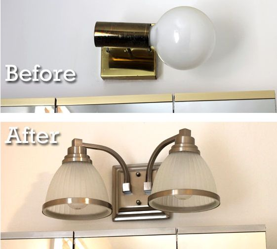 Serenity now highlighted weekend links share your best post for Updating bathroom light fixtures