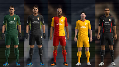 Preview PES 2012: Uniforme do Galatasaray 2012/13