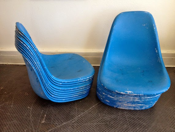 bits and pieces painted eames shell chair restoration