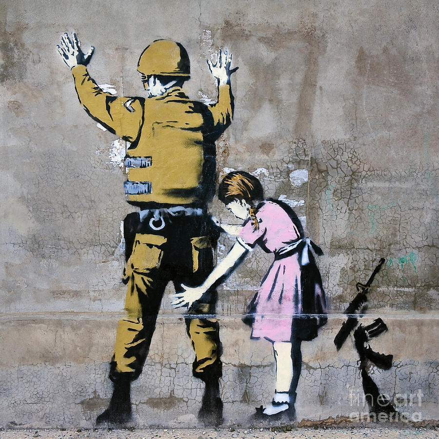 US Republican Congress Lunacy Rant Thread - Page 6 Banksy-soldier-and-girl-stefano-baldini