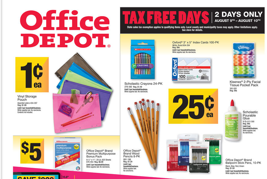 Being frugal 101 office depot deals week of 8 4 for Deals by depot