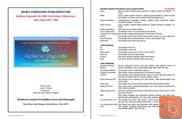 Buku Panduan Penginputan Aplikasi Dapodik SD-SMP-SLB Tahun Ajaran 2015/2016