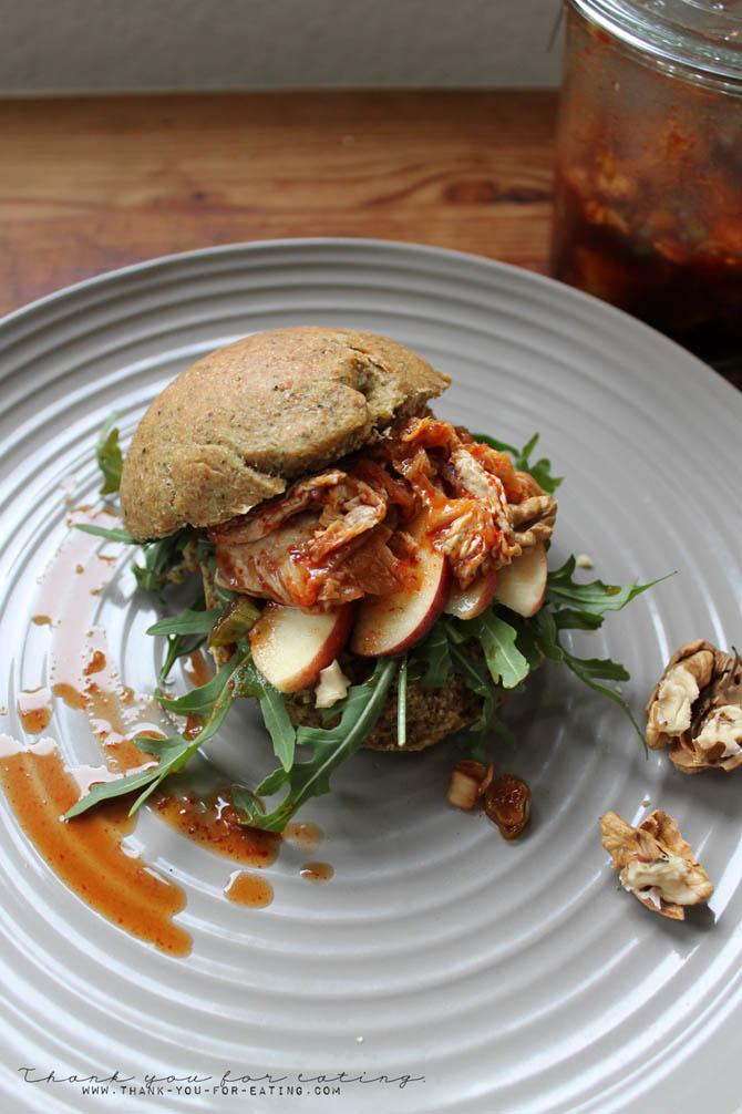 veganer Kimchi Burger