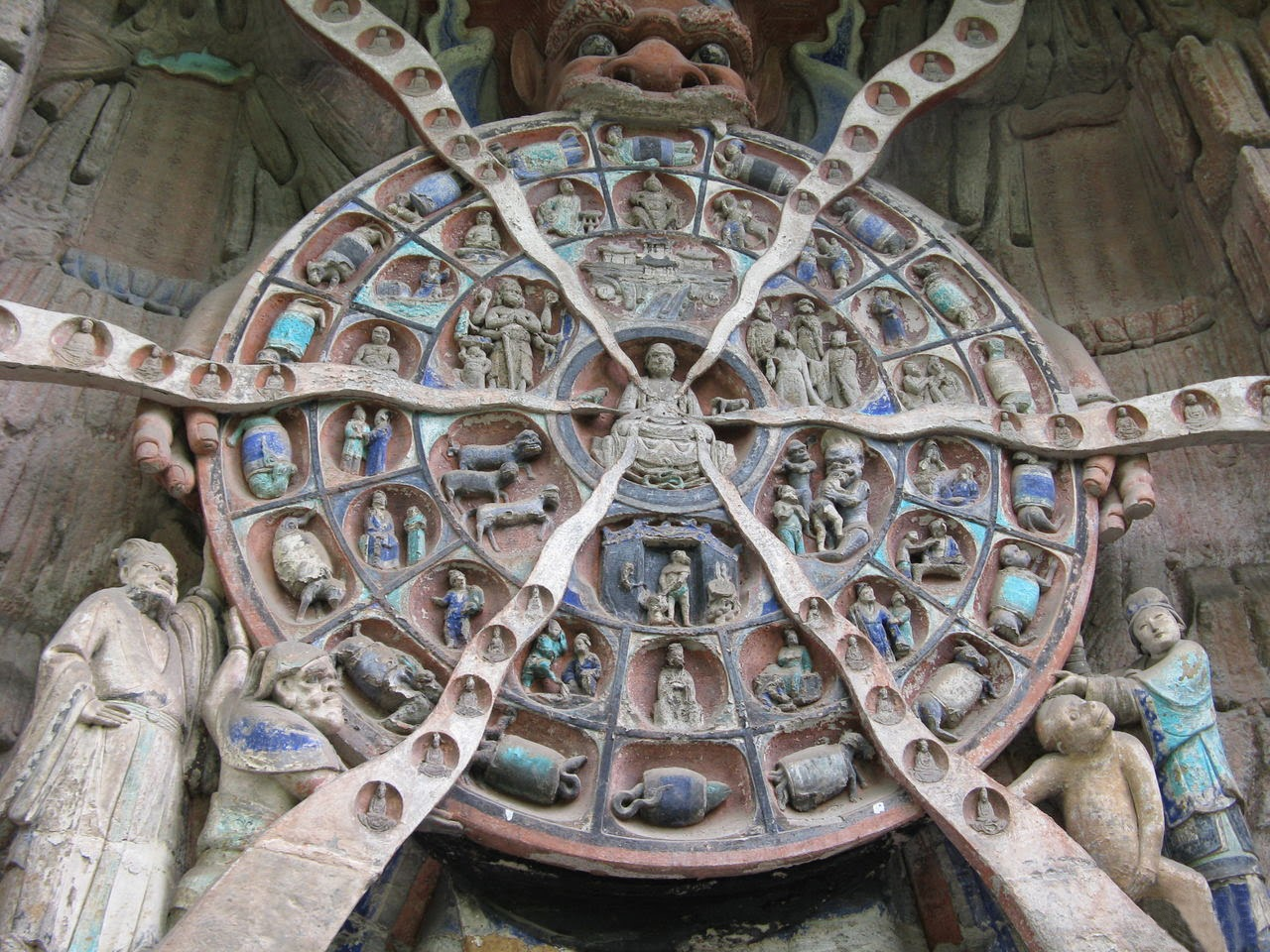Dazu rock carvings religious sculptures china tours