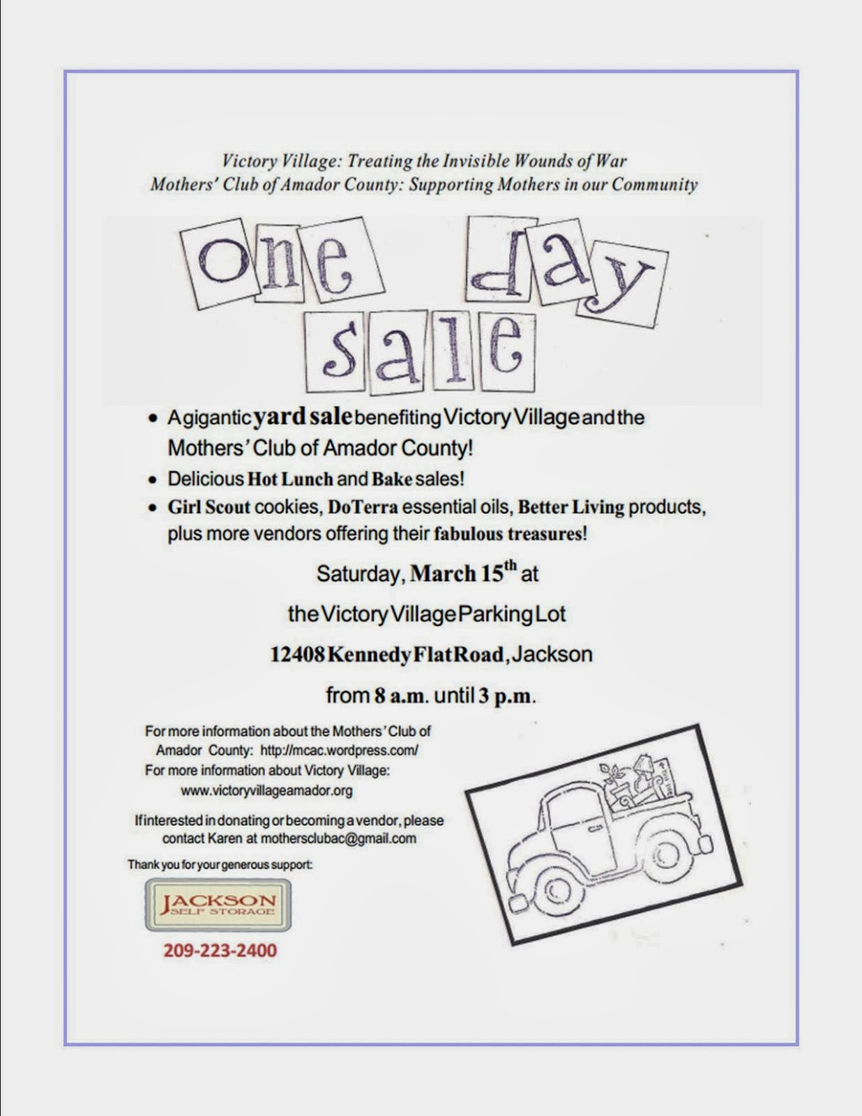 One Day Sale - Sat Mar 15