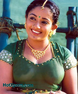 South Actress Kavya Madhavan Boobs Transparent Through Her Blouse Fake
