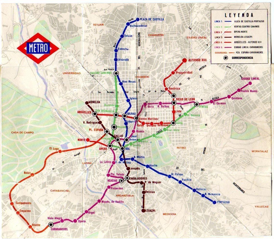 Madrid Ferrocarriles y Transportes Urbanos El metro a La