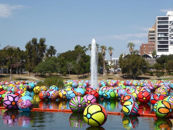 MacArthur Park floating Spheres