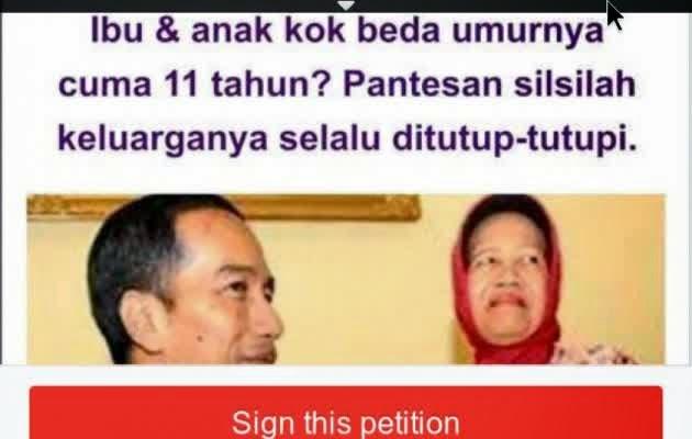 Petisi Ini Menantang Jokowi Untuk Tes DNA Mengklarifikasi Bahwa Jokowi Adalah PKI