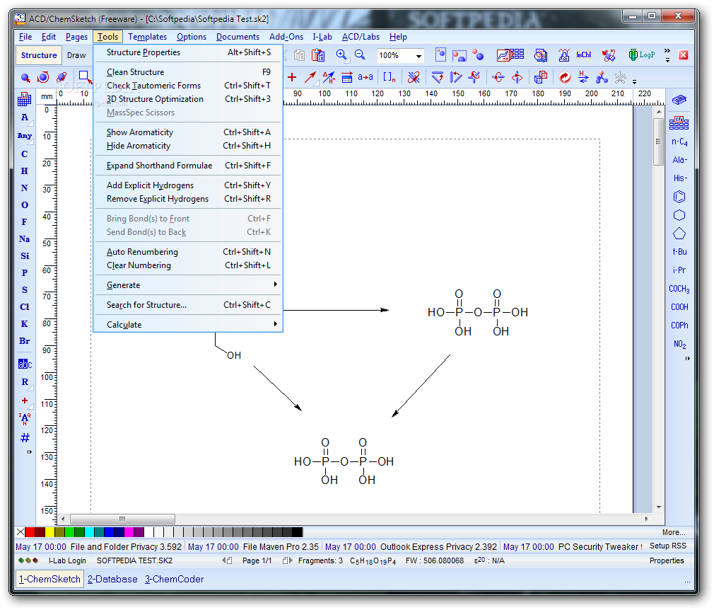 Free chemical drawing software acd chemsketch free for Drawing program free online