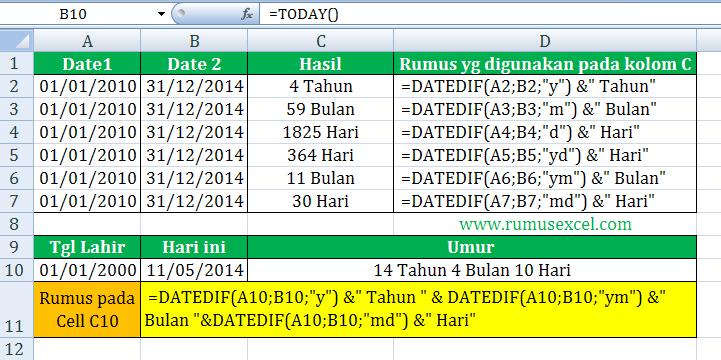 Menghitung Rumus di Excel