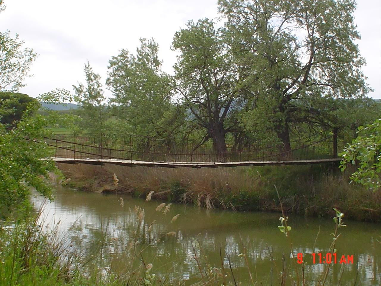Puente Colgao Visto agua abajo