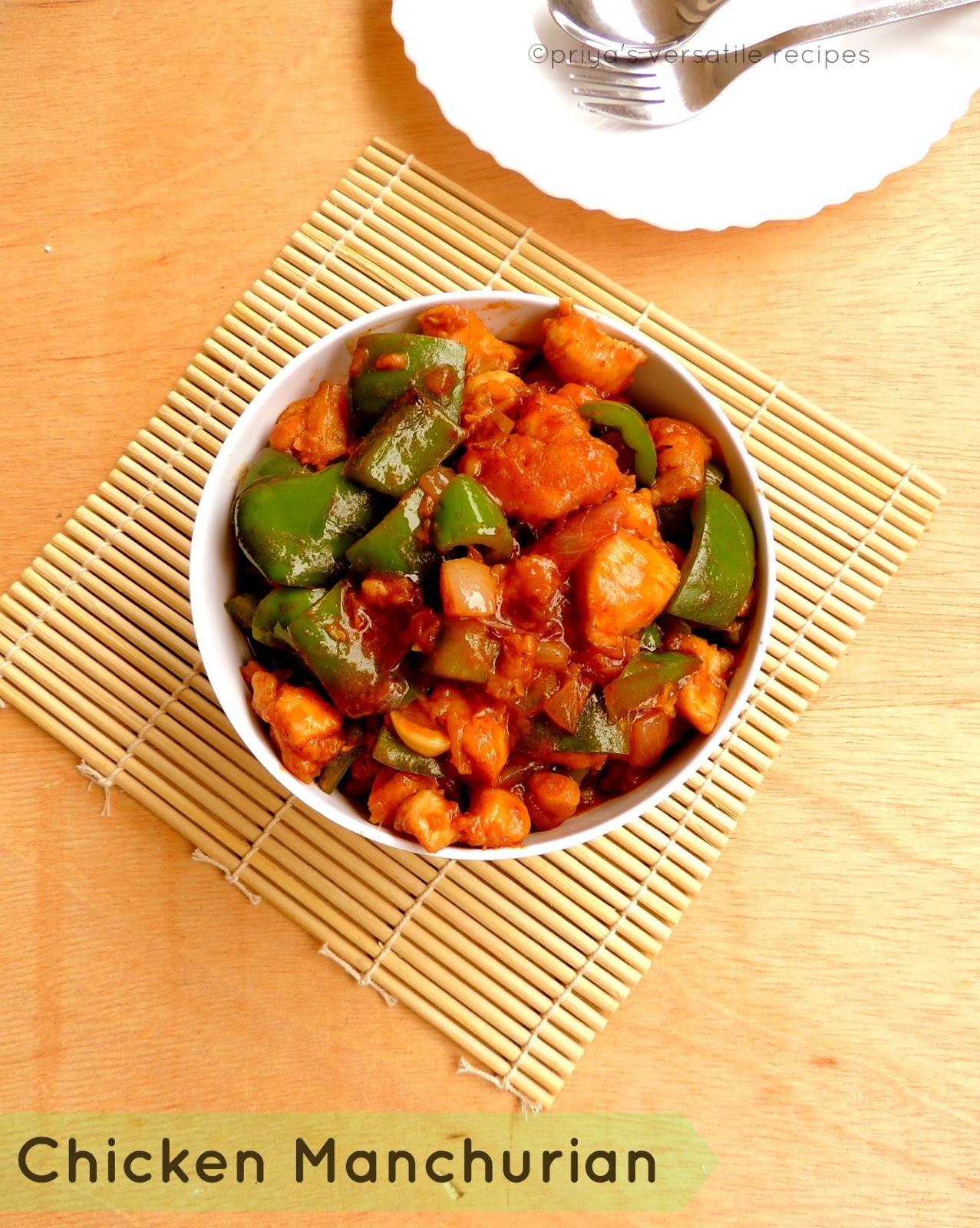 Chicken manchurian recipe recipes stir fries or gravies prepared with chicken this yummy manchurian will definitely satisfy your tastebudsnding to julies flavors of cuisine chinese forumfinder Choice Image