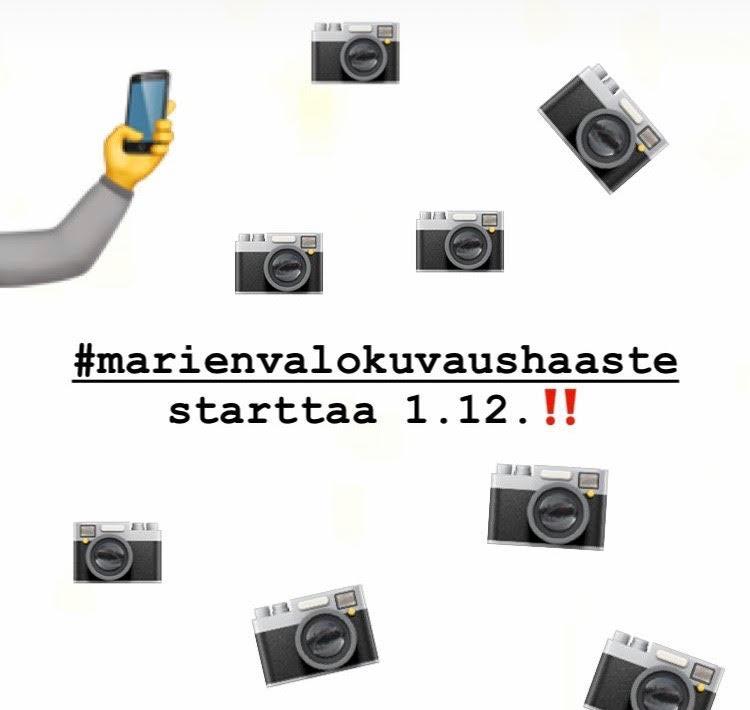 #marienvalokuvaushaaste Instagramissa 1.-31.12.2018