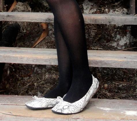 Snakeskin ballet flats