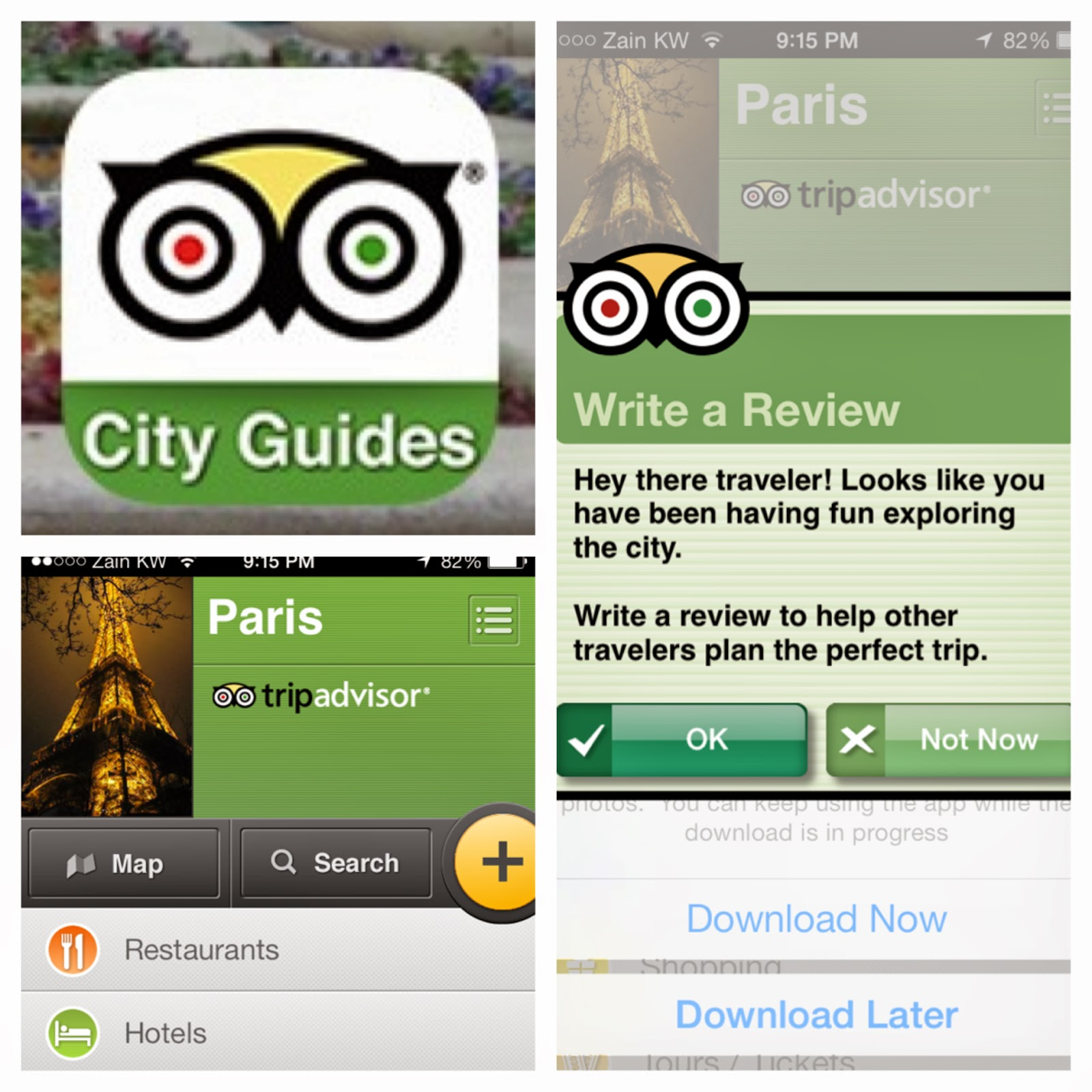 Trip advisor, city guide catalog
