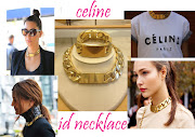 CELINE GOLD ID NECKLACE