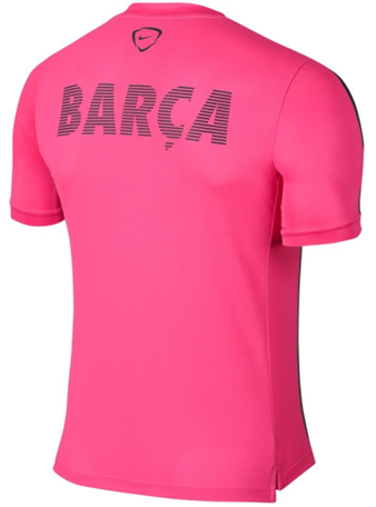 Jual Jersey Training Barcelona New Pink Garis Garis 2015-2016