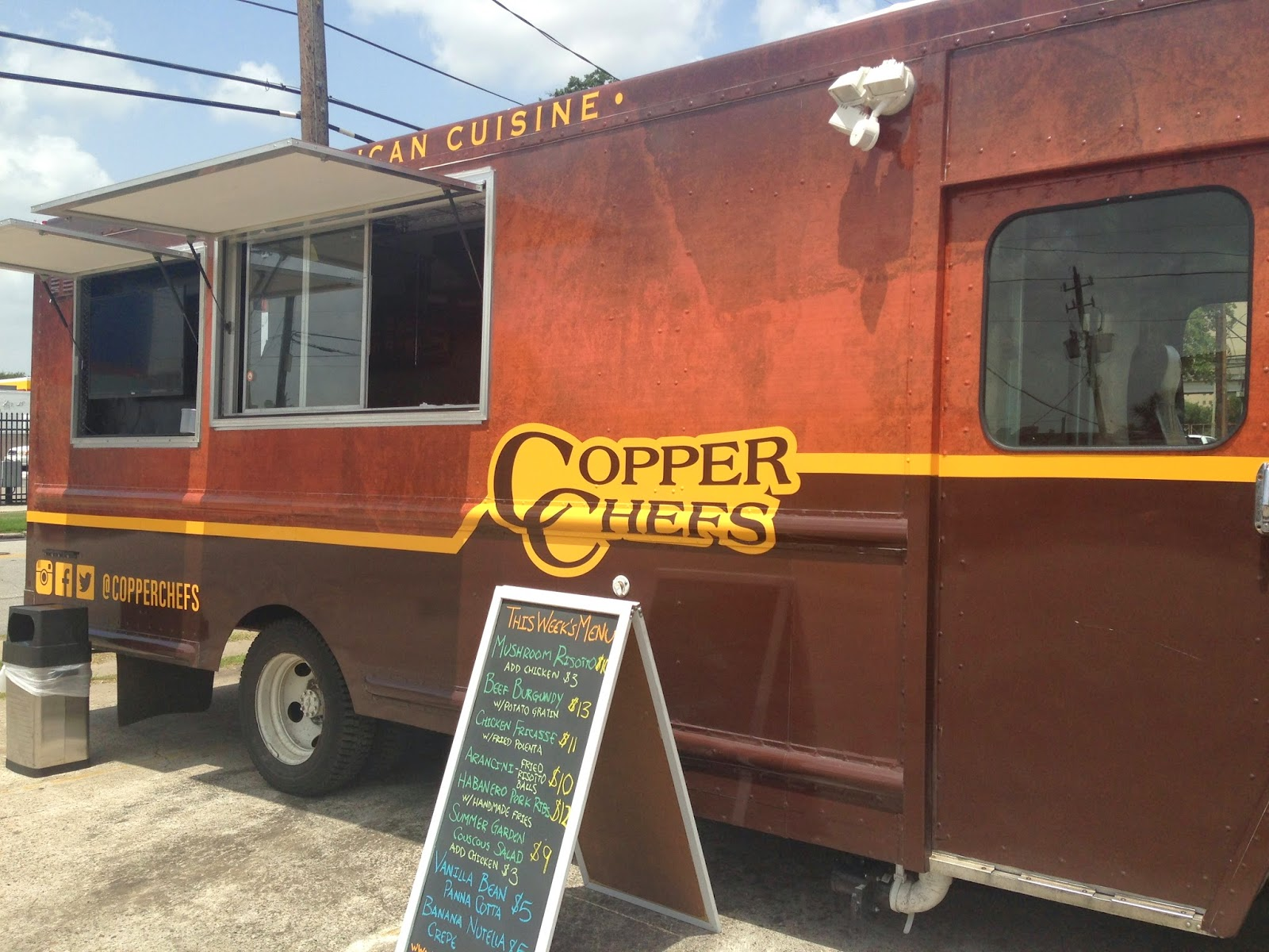 Copper Chefs Food Truck Houston TX